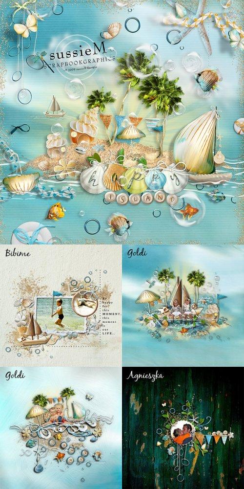 Скрап-набор Happy island