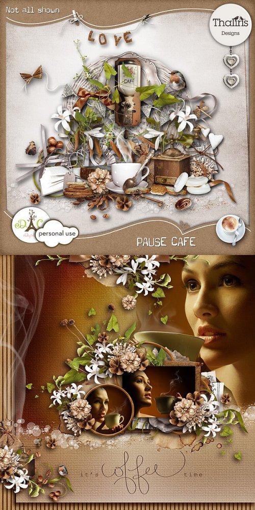 Скрап-набор Pause cafe