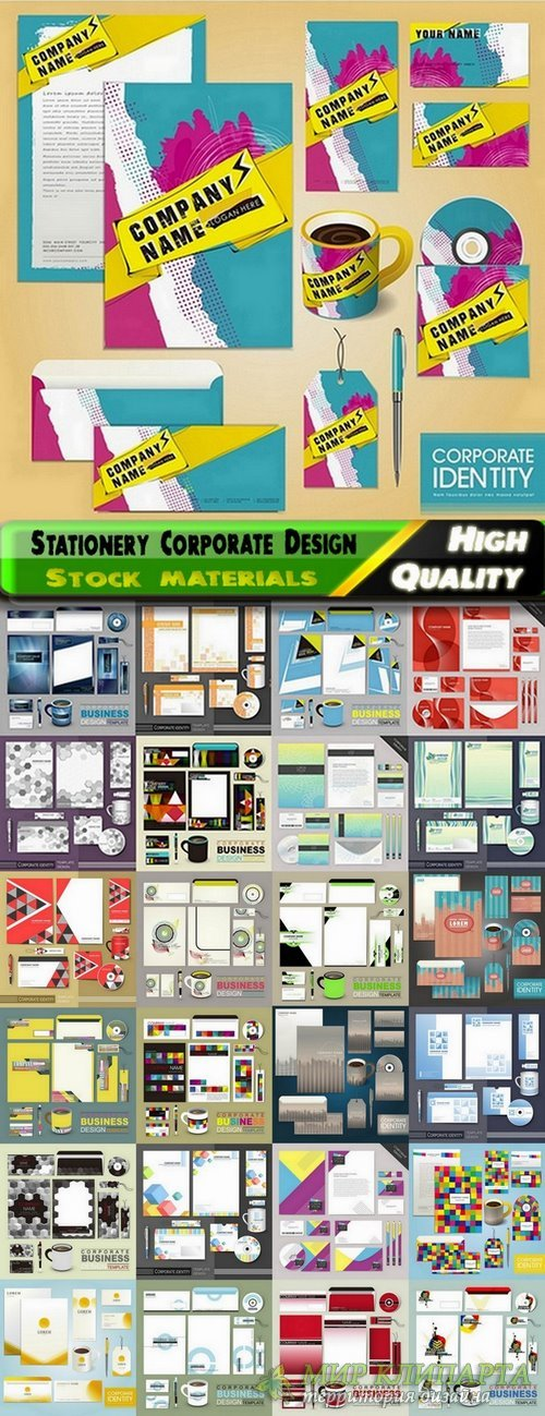 Stationery Corporate Design elements in vector from stock #3 - 25 Eps