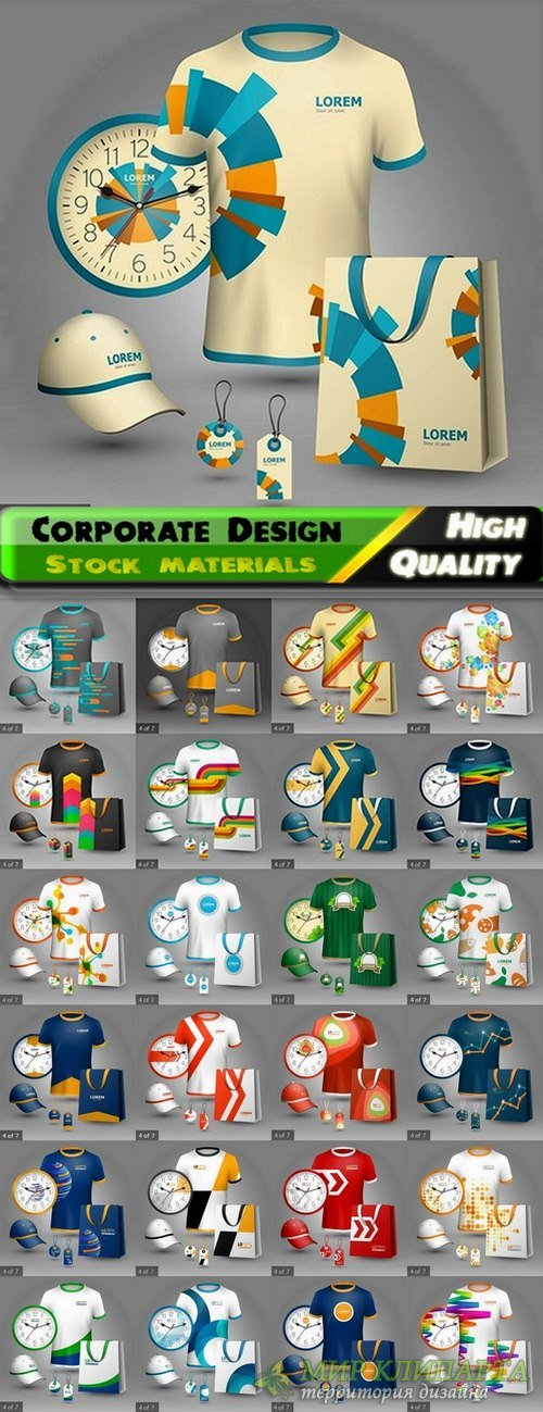 Stationery Corporate Design elements in vector from stock #4 - 25 Eps