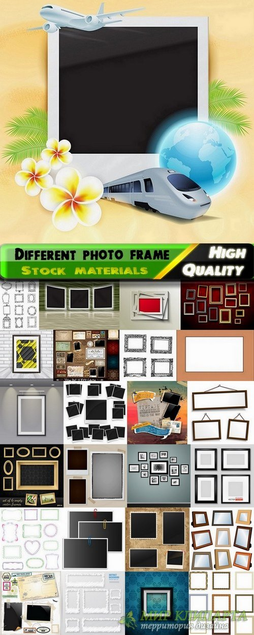 Different photo frame set in vector from stock - 25 Eps