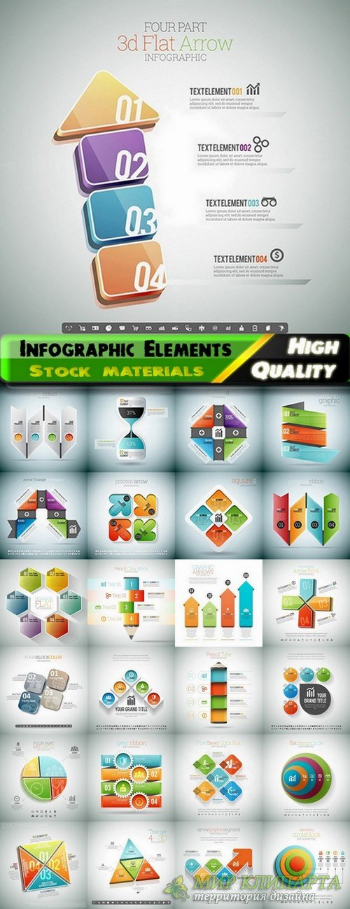 Infographic Design Elements in vector set from stock #78 - 25 Eps