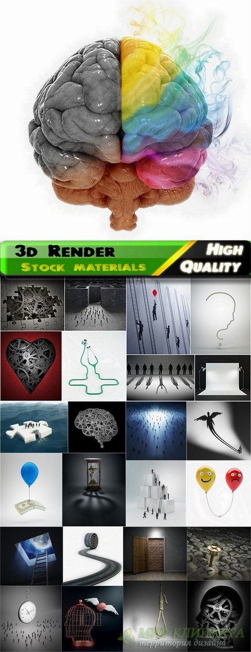 3d Render Creative ideas Stock images #3 - 25 HQ jpg