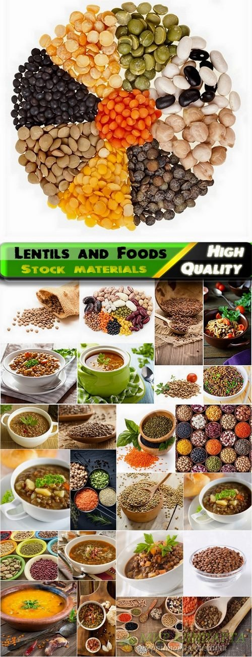 Lentils and Foods Collections Stock images - 25 HQ jpg