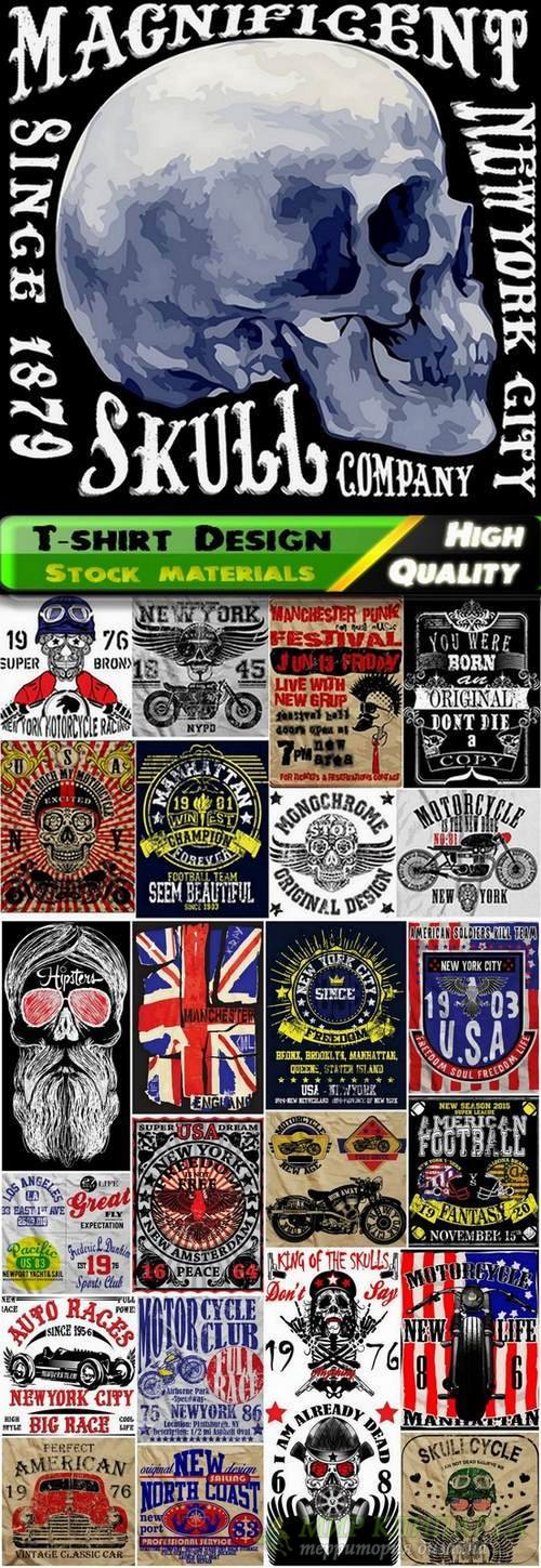T-shirt Design elements in vector from stock #33 - 25 Eps