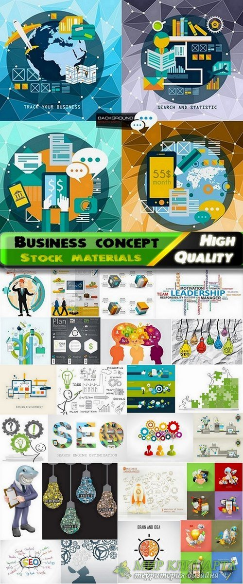 Business concept  and business design element in vector from stock - 25 Eps