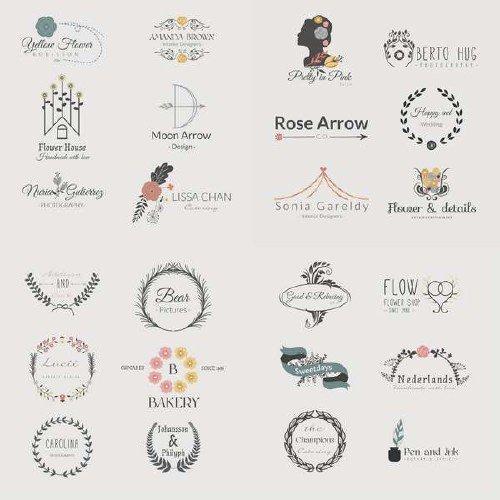 Ретро эмблемы и логотипы в векторном ассорти