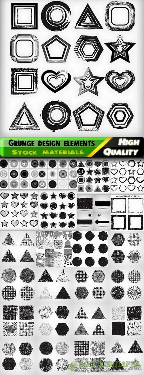 Grunge design elements and grunge backgrounds - 25 Eps