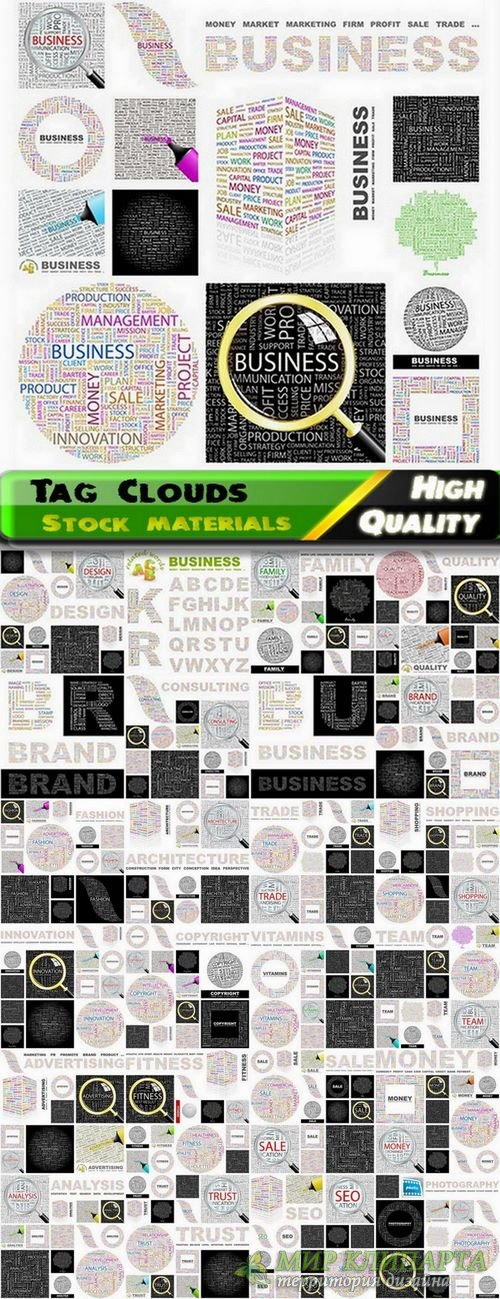 Tag Clouds Business Concept #2 - 25 Eps