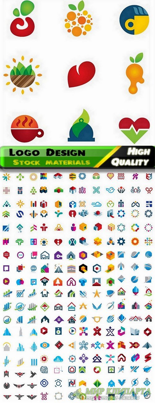 Logo Design in vector Set from stock #31 -  25 Eps