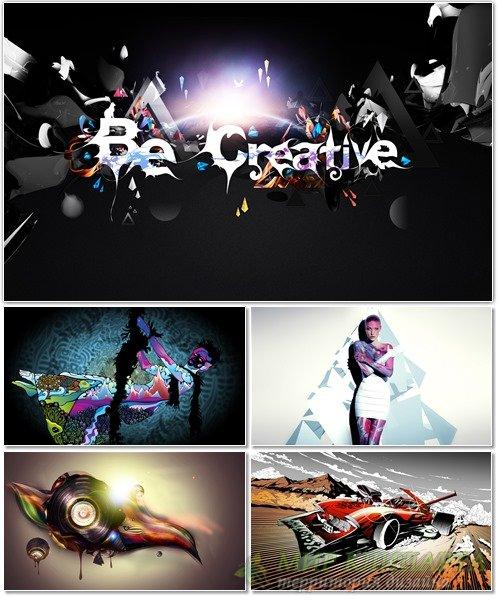 Набор креативных обоев для фона рабочего стола 68