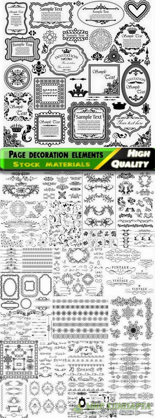 Different template with frames and patterns for page decoration in vector from stock #3 - 25 Eps