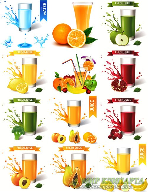 Juice design vector