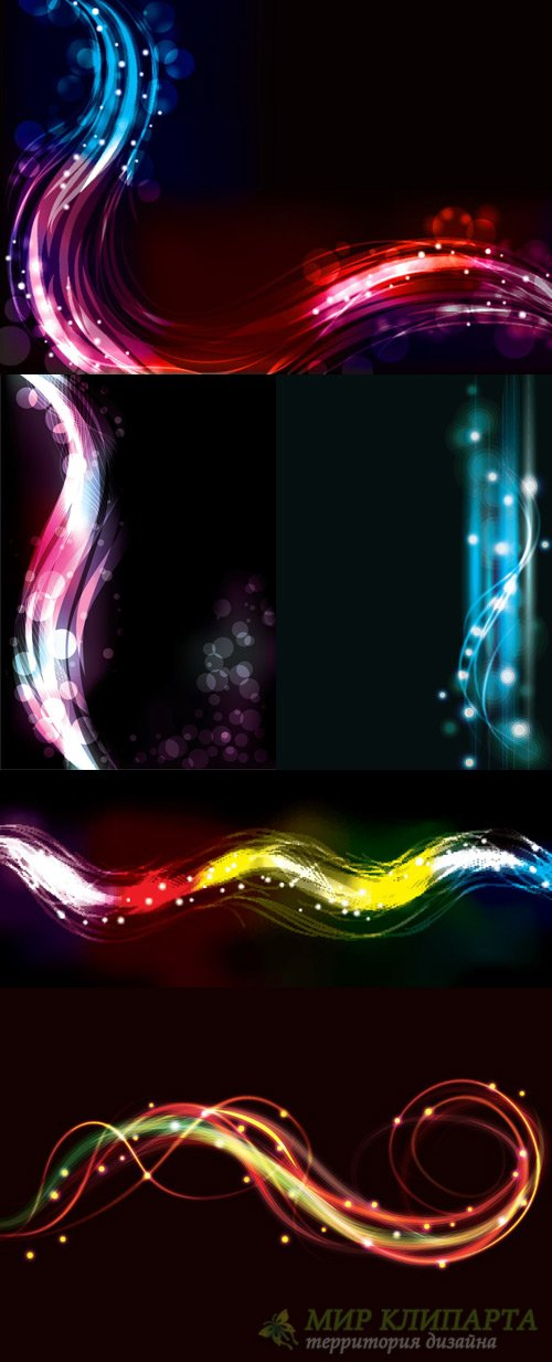 Elements of neon lights backgrounds vector