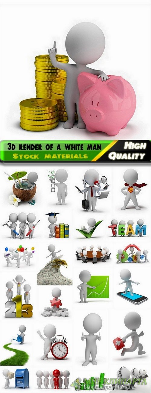 3d render of a white man Business concept Stock images - 25 HQ Jpg