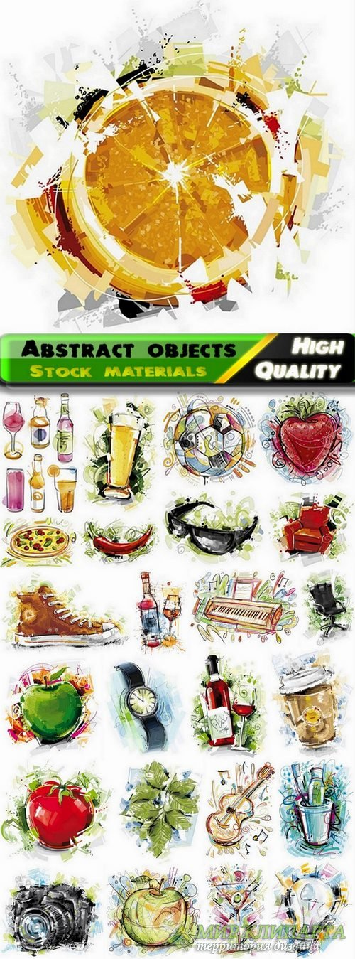 Abstract illustration different objects in vector from stock #2 - 25 Eps
