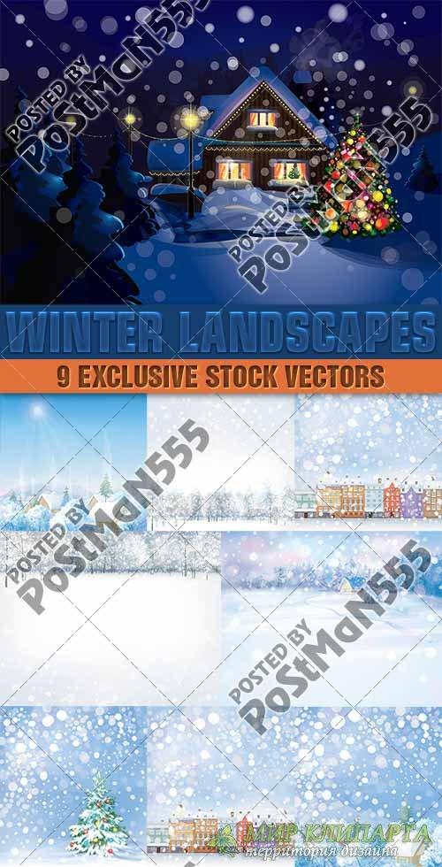 Прекрасные зимние рождественские пейзажи | Beautiful winter landscape Chris ...