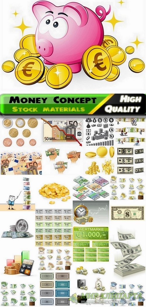 Different money design in vector Business concept from stock #2 - 25 Eps