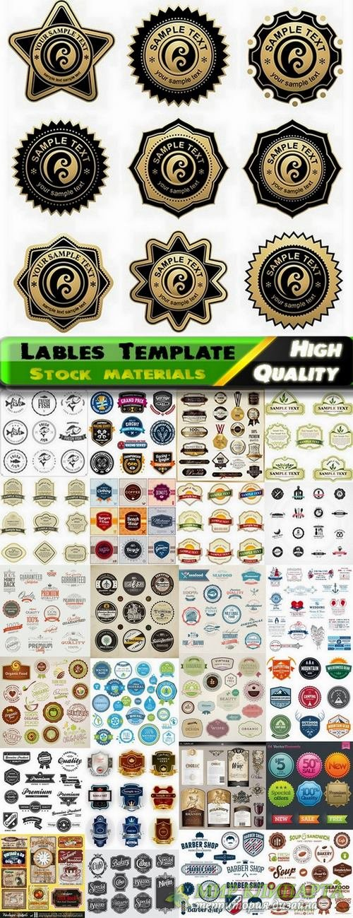 Lables Template design in Vector from Stock set #14 - 25 Eps