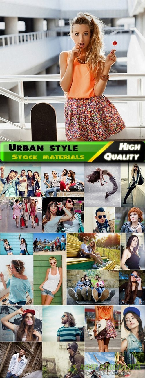 Urban style and fashionable people Stock images - 25 HQ Jpg