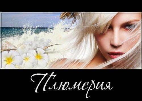 Плюмерия - цветы и кластеры на прозрачном фоне