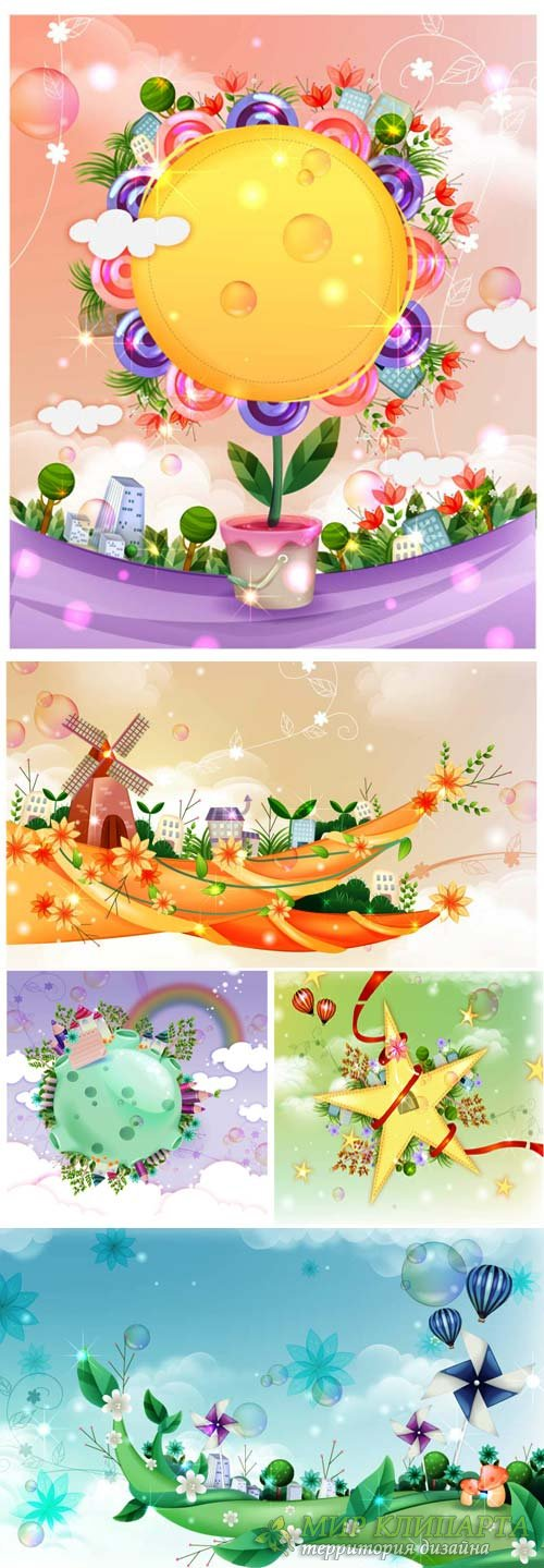Fairy world in vector