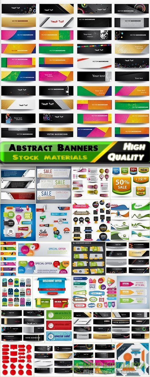 Abstract Banners in vector set from stock #10 - 25 Eps