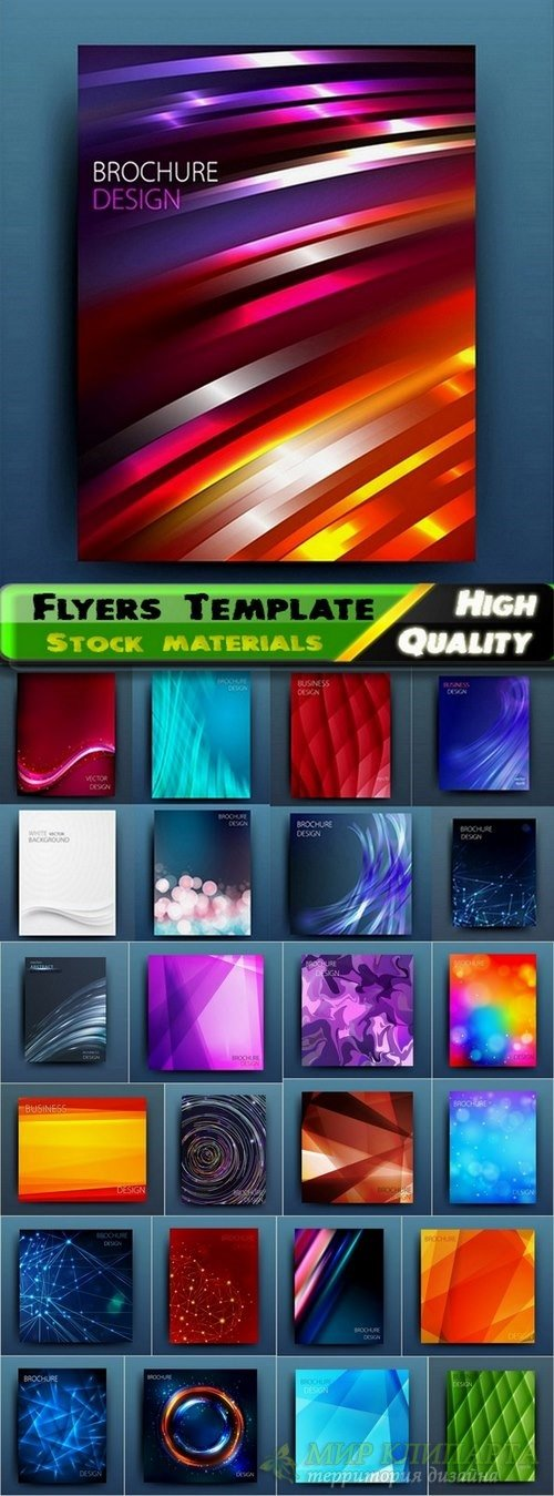 Flyers Template design Collection in vector from stock #31 - 25 Eps