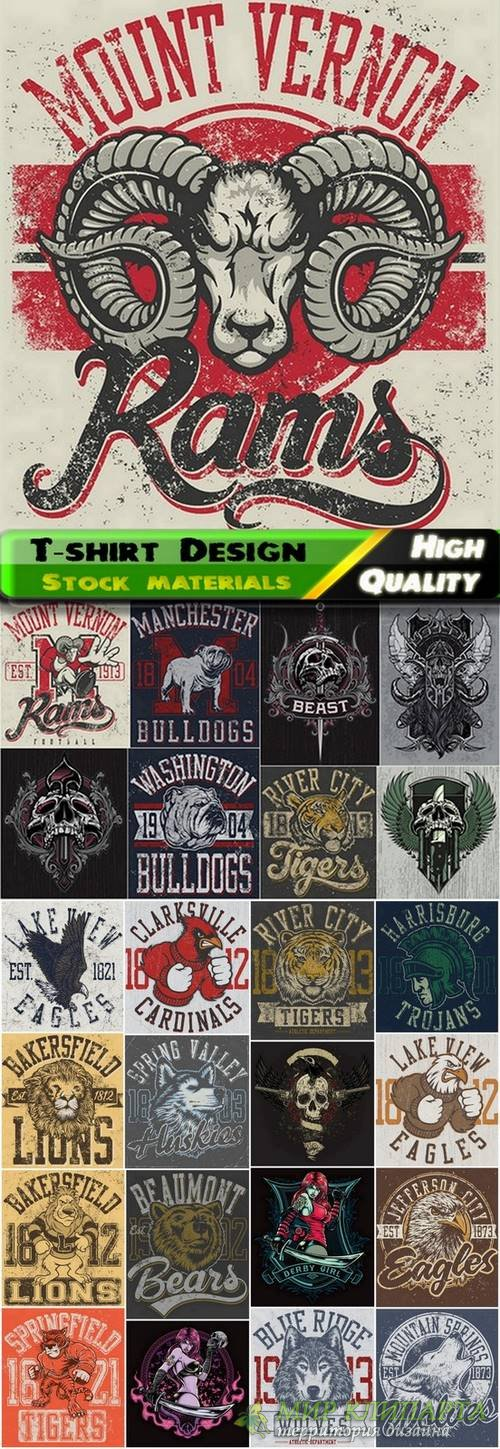 T-shirt Design elements in vector from stock #37 - 25 Eps