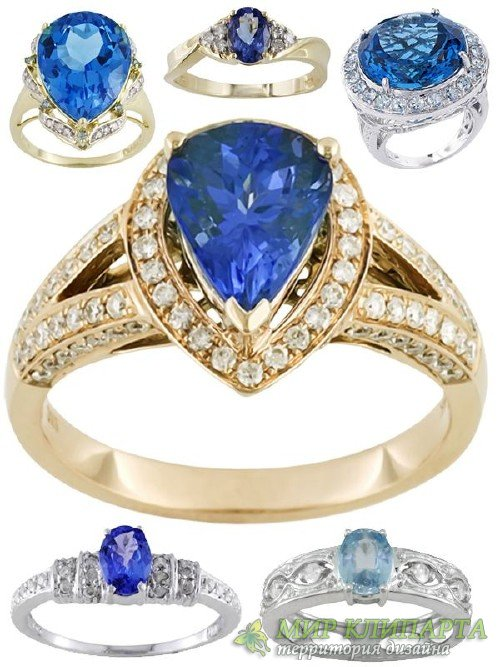 Ювелирные украшения: Кольца и перстни украшенные синим сапфиром (подборка и ...