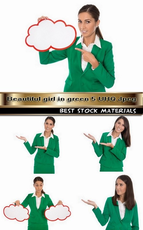 Beautiful girl in green 5 UHQ Jpeg