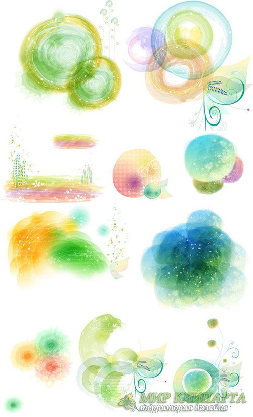 Watercolor decorative patterns