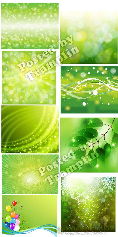 Абстрактные зеленые фоны в векторе