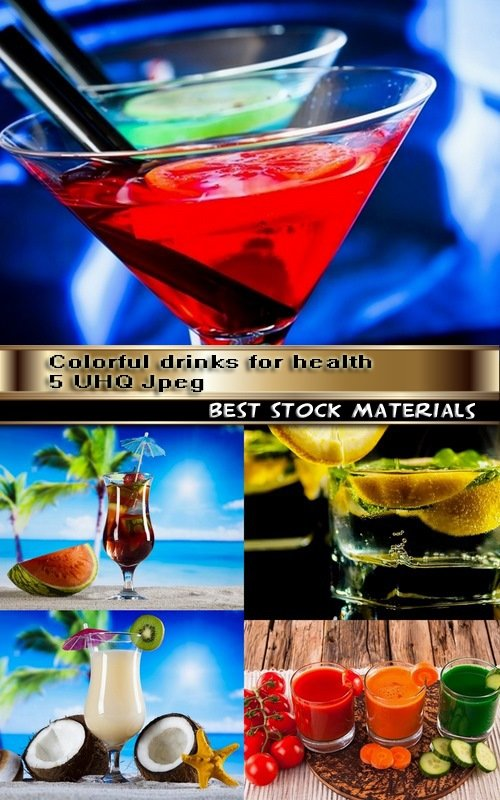Colorful drinks for health 5 UHQ Jpeg