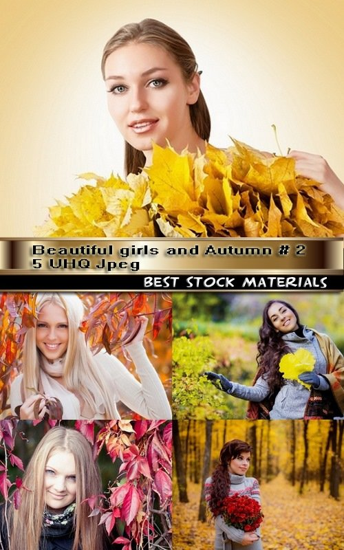 Beautiful girls and Autumn # 2-5 UHQ Jpeg