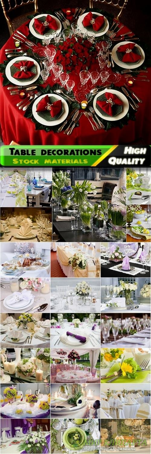 Table decorations and tableware Stock images - 25 HQ Jpg