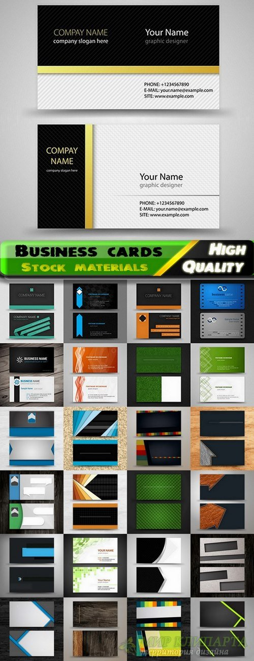Business cards Template design set #10 - 25 Eps
