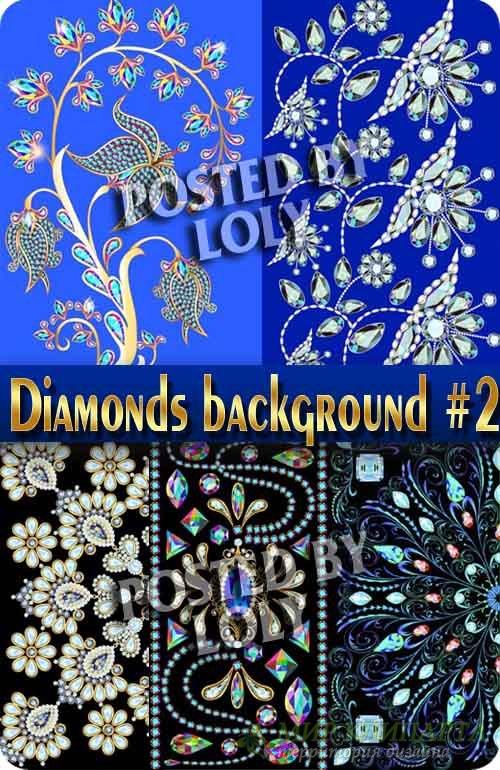 Фоны из драгоценных камней и алмазов #2 - Векторный клипарт