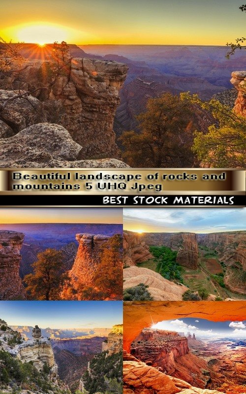 Beautiful landscape of rocks and mountains 5 UHQ Jpeg