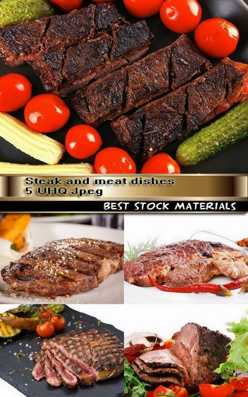 Steak and meat dishes 5 UHQ Jpeg