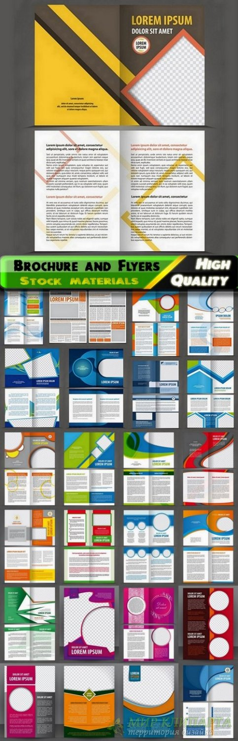 Brochure and Flyers Template Design in vector from stock #19 - 25 Eps