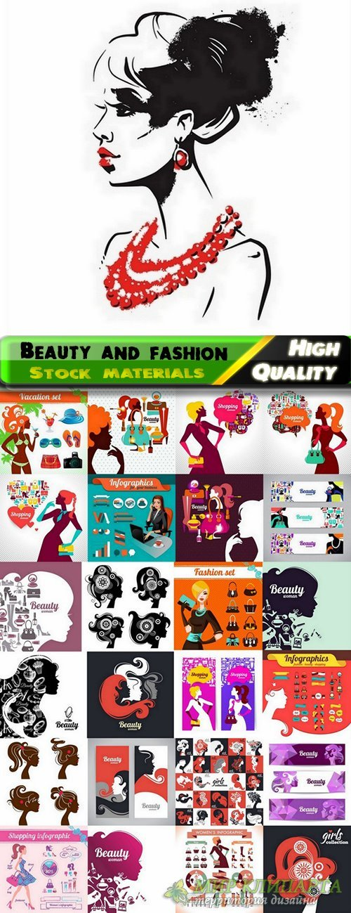 Beauty and fashion in vector from stock - 25 Eps