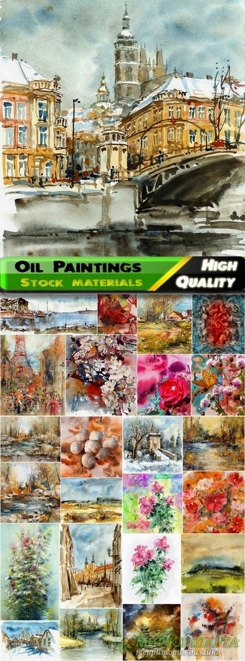 Amazing Oil Paintings and watercolor Stock images - 25 HQ Jpg