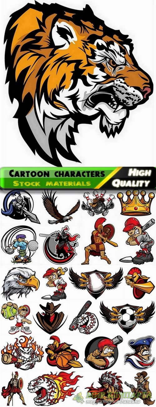 Funny cartoon characters in vector from stock #4 - 25 Eps