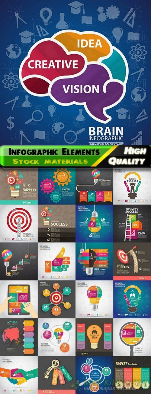 Infographic Design Elements in vector set from stock #82 - 25 Eps