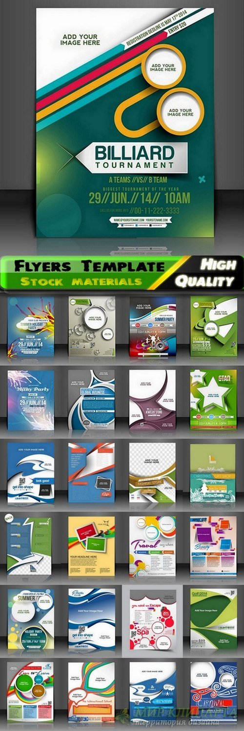 Flyers Template design Collection in vector from stock #32 - 25 Eps