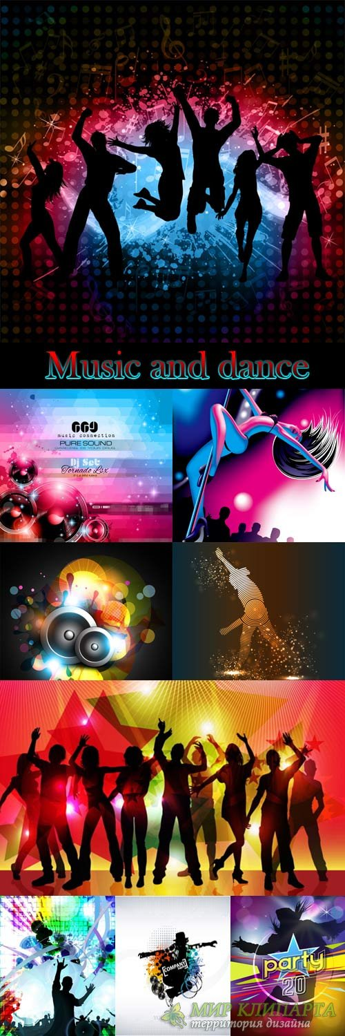Music and dance vector posters and flyers