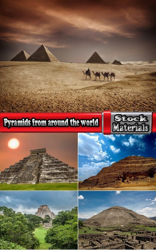 Collection of different pyramids from around the world 5 UHQ Jpeg