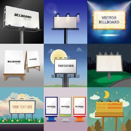 Рекламные афиши и билборды в векторном формате