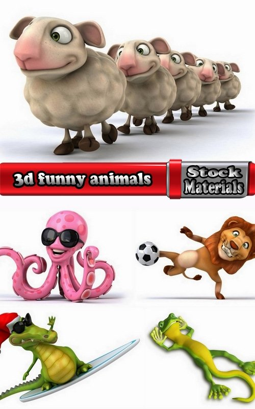 3d funny animals 5 UHQ Jpeg